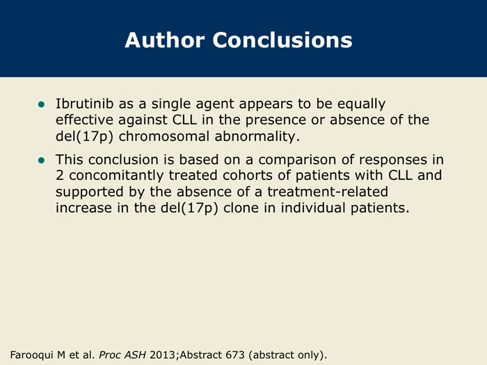 Single-Agent Ibrutinib for Patients with CLL with and