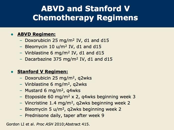 abvd versus stanford v in hodgkin lymphoma